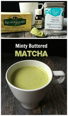 Minty Buttered Matcha Drink  for Steeped Tea Matcha click here: http://www.mysteepedtea.com/shop/catalog.aspx