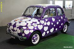 """FIAT  500  """" Cuoricina """" by marvin 345; interesting and everyone would notice you when you headed down the road."""