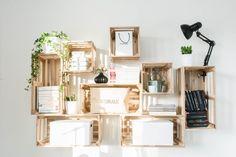 our home office - arbeitszimmer - DIY - Obstkisten - PUUURO - Apple MacBook - skandinavisch - Hema - scandinavian - minimalistisch - black & white - interior - minimalism - scandi - Depot - Ikea