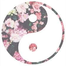 Ying yang symbol and flowers put them together. Tumblr Backgrounds, Cute Backgrounds, Wallpaper Backgrounds, Phone Backgrounds, Iphone Wallpapers, Yin Yang, Jing Y Jang, Oblyvian Girls, Overlays