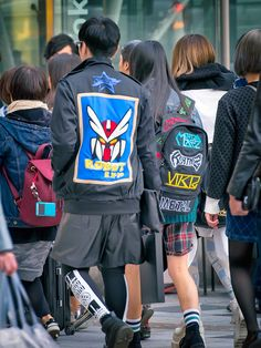 """""""Robot RX-78"""" jacket spotted on the street in Harajuku."""