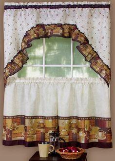 Exceptionnel Coffee Complete 36u2033 Tier U0026 Swag Set Kitchen Curtain Sets, Kitchen Window  Curtains,