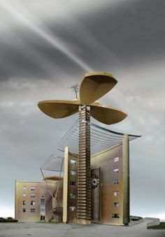 Unique Futuristic Design  Architecture - Space Heater Place by David Trautrimas