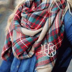 Blanket Scarves are Now Available!  Monogrammed or No monogram. GREAT GIFT IDEA