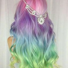 pastel rainbow | hair colors