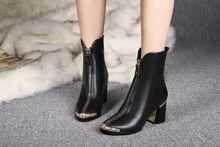 2015 hot venta nuevas mujeres botines especial parte media cremallera bombea con cordones de cuero genuino botines marca CC botas tacones altos(China (Mainland))