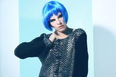 ypno#adv#previw#fw2016#madeinitaly#fashion#knit#outfit#futuristic#model#style#bluehair