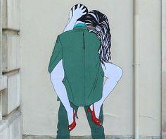 Street Art .Arte romântica, sensual e provocante- Claire Street Art;
