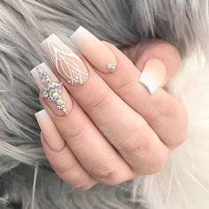 21 Cool Designs for Coffin Tip Nails Shape ❤ Coffin Nails with Rhinestones picture 3 ❤ Coffin tip nails will take you to the next level of trendy. No matter what you prefer, there will be definitely something special for you! https://naildesignsjournal.com/coffin-tip-nails-designs/ #naildesignsjournal #nails