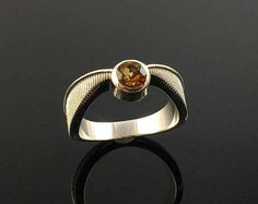Topaz Snitch Ring In Sterling Silver