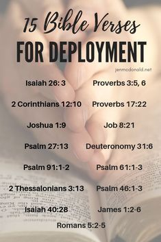 15 Bible Verses for Military Spouses Facing Deployment or Separation — Jen McDonald I've had it on my heart for some months to share a few of the verses that have gotten me through years of separations and deployments, so I'd like to share those with you. Deployment Quotes, Military Deployment, Military Couples, Military Mom, Deployment Party, Deployment Countdown, Deployment Tools, Deployment Letters, Military Letters
