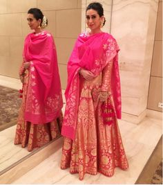Rani pink lehenga for an Indian wedding!