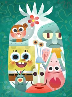 Since I am still rather new to the tumblr. I am just uploading some older stuff I did earlier this year. here's the piece from the sponge bob show at gallery nucleus back in July