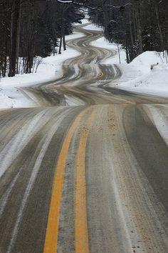 twisty road | Gills Rock, Wisconsin
