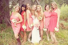 Rustic Country Bridesmaids