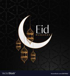 Eid mubarak celebration background with moon and vector image on VectorStock Eid Adha Mubarak, Eid Mubarak Wishes, Eid Mubarak Greeting Cards, Happy Eid Mubarak, Eid Mubarak Greetings, Eid Cards, Eid Al Fitr, Ramzan Eid Mubarak, Ramadan Greetings