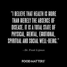 Health looks and feels different to everyone. What does health mean and feel like to you?  www.foodmatters.tv
