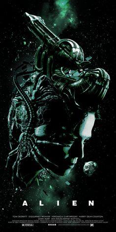 Alien - movie poster - Laz Marquez
