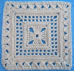 "Ladies Lace 12"" square. Pattern by Melinda Miller, crocheted by MaryFairy."