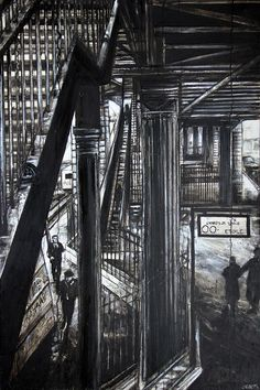 Métro parisien 130x95