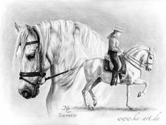 Andalusian horse by Katja Eichhorn