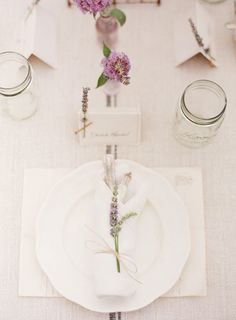 Lavender Inspiration Photo Shoot by KT Merry + Dreamy Whites | Style Me Pretty