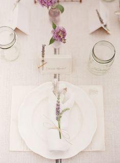 Lavender place setting