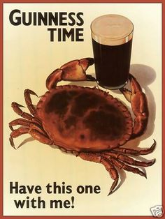 Guinness - Crab Vintage Poster Art Print on Canvas | eBay #zodiac #astrology #cancer #crab