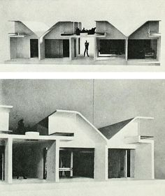 """mikasavela: """"Images of Le Corbusier's 1965 project for a hospital in Venice, Italy. From Architecture at Rice University series, 23 (1968), by Chilean architect Guillermo Jullian de la Fuente, who Le..."""