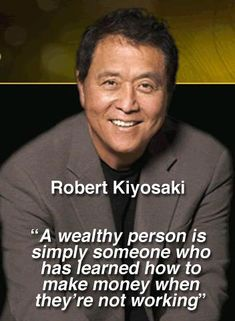 Seek for passive income or good investments.