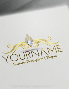Design Free Diamond Emblem Online Logo Template Ready made Online logo template Decorated with a Beautiful diamond with curved emblem. This professional art logos excellent for business that wants to transmit Creativity as Beauty, care, cosmetics, hairdresser, fashion, law firm, etc. How to design free logo online? 1- Customize This logo with our free logo maker tool - Change you company name, slogan,