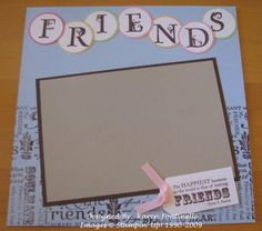 GS scrapbook page - this would also be a cute layout for the class picture.