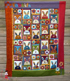 The Rabbits at Hyde Park Pattern   #quilt #quilting
