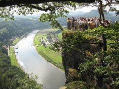 Elbe Sandstone Mountains in Saxony, Germany