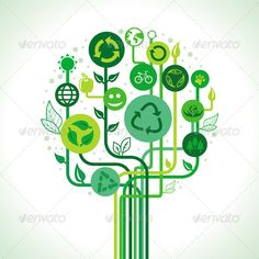 Buy Vector Ecology Concept by venimo on GraphicRiver. Vector ecology concept – abstract green tree with recycle signs and symbols. EPS and AI files, Jpeg file Free Vector Art, Free Vector Images, Eco Sign, Environmental Posters, Environmental Engineering, Real Estate Logo Design, Vector Trees, Vector Pattern, Branding