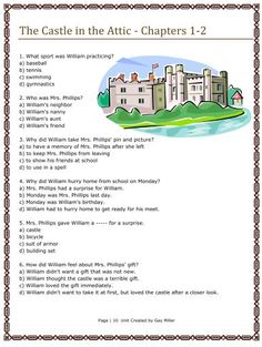 Free Resources to use with The Castle in the Attic