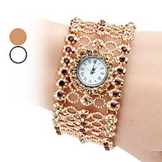 Women's Alloy Analog Quartz Bracelet Watch (Assorted Colors). Get thrilling discounts up to 60% Off at Light in the Box using Coupons & Promo Codes.