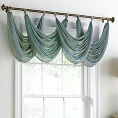 Inspiration: Trends in Window Coverings - Your design partner LLC Waterfall Valance, Drapes Curtains, Valances, Window Treatments Living Room Curtains, Blackout Curtains, House Windows, Curtain Designs, Home And Deco, Window Coverings