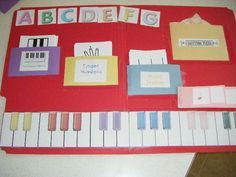 Lapbook idea...could use this idea with pockets for melody, rhythm, form, expressive qualities, harmony, analysis.
