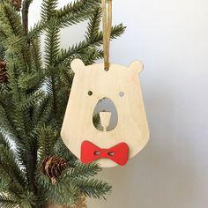 Holiday ornament, Bear, Tree ornament, Christmas Ornament, Animal ornament