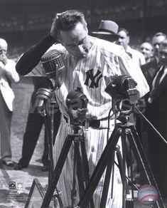 """Lou Gehrig ~ """"Henry Louis Gehrig (June 19, 1903 – June 2, 1941) was an American…"""