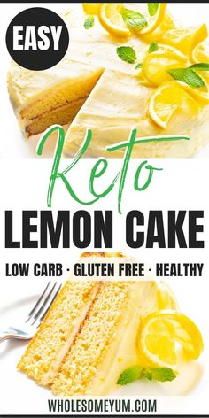 Almond Flour Keto Lemon Cake Recipe | Wholesome Yum