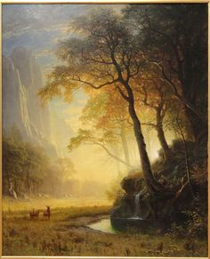 Shop for Hetch Hetchy Canyon by Albert Bierstadt Animals Art Print. Get free delivery On EVERYTHING* Overstock - Your Online Art Gallery Store! Albert Bierstadt Paintings, Hudson River School, Poster Prints, Art Prints, Western Art, American Art, Landscape Paintings, Landscapes, Fantasy Art