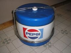 Vintage 1970's Metal Pepsi Cola Triple Decker Food/Cake Carrier - I have never seen a Pepsi carrier before - so cool!!!