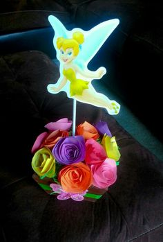 DIY Tinkerbell Party Centerpiece Decoration