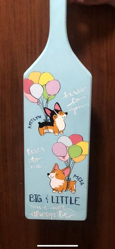 Paddle made for my little this spring!! #corgi #sorority #paddle #biglittle