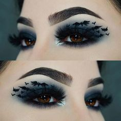 21 Bat Makeup Ideas for Halloween 2020 | Page 2 of 2 | StayGlam Bat Makeup, Orange Makeup, Halloween Eye Makeup, Makeup Eye Looks, Purple Eye Makeup, Purple Eyeshadow, Scary Makeup, Makeup Geek, Eyeshadow Makeup