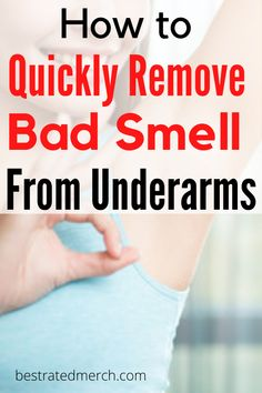 Stinky Armpits, Armpits Smell, Under Arm Detox, Underarm Smell, Detox Your Armpits, Bad Body Odor, How To Get Faster, Skin Care Remedies, Natural Remedies