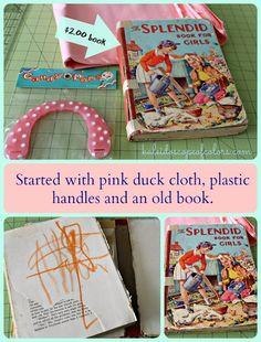 Kaleidoscope of Colors: Vintage Book Organizer Tutorial