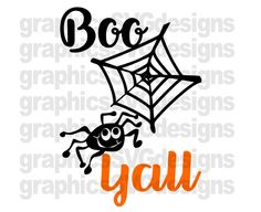 Boo Yall SVG File For Cricut and Cameo DXF for by SukiesDesigns